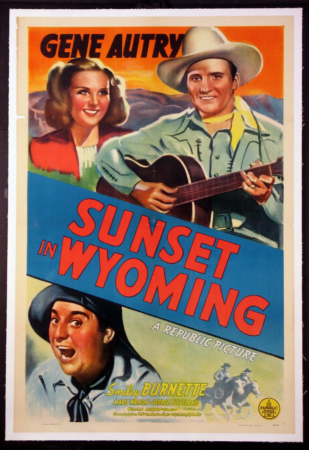 SUNSET IN WYOMING @ FilmPosters.com