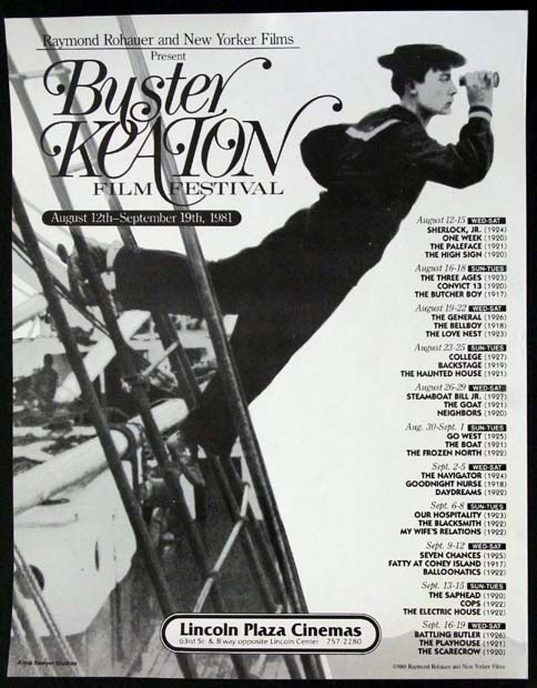 BUSTER KEATON FILM FESTIVAL @ FilmPosters.com