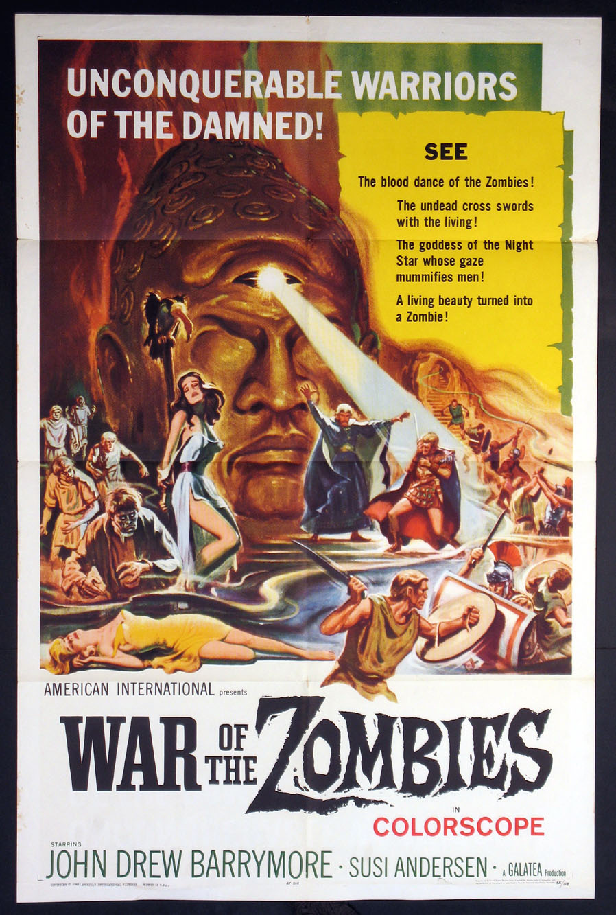 WAR OF THE ZOMBIES @ FilmPosters.com