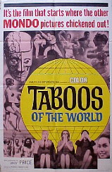 TABOOS OF THE WORLD @ FilmPosters.com