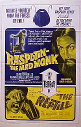 RASPUTIN THE MAD MONK / THE REPTILE @ FilmPosters.com