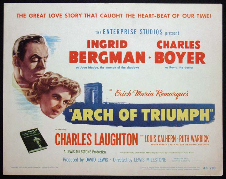 ARCH OF TRIUMPH @ FilmPosters.com