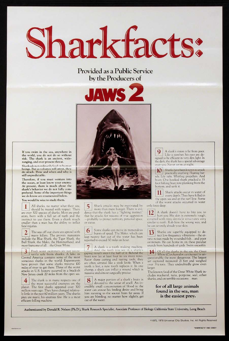 JAWS 2 - Sharkfacts Advance @ FilmPosters.com