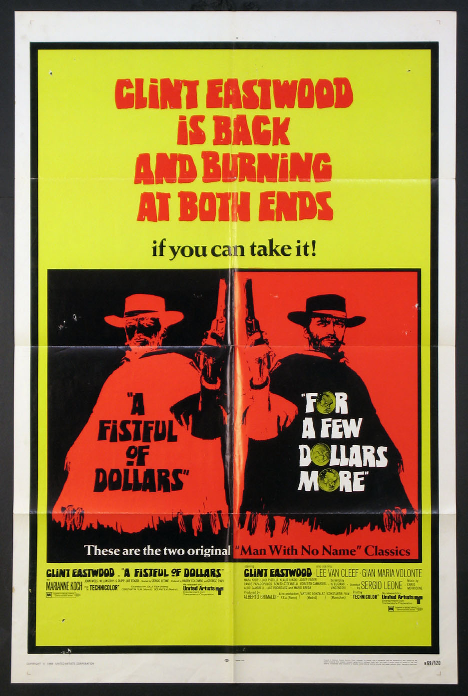 FISTFUL OF DOLLARS / FOR A FEW DOLLARS MORE @ FilmPosters.com