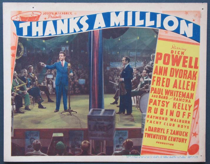 THANKS A MILLION @ FilmPosters.com