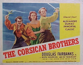 CORSICAN BROTHERS, THE @ FilmPosters.com