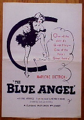 BLUE ANGEL, THE (The Blue Angel) @ FilmPosters.com