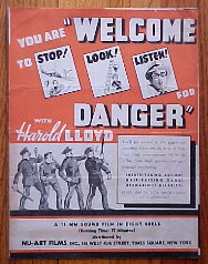 WELCOME DANGER @ FilmPosters.com