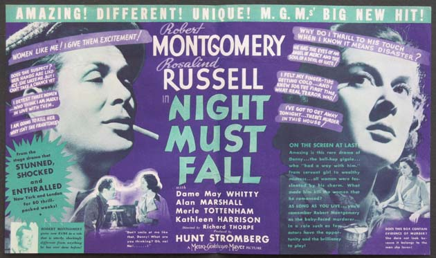 NIGHT MUST FALL @ FilmPosters.com