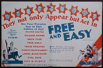 FREE AND EASY @ FilmPosters.com