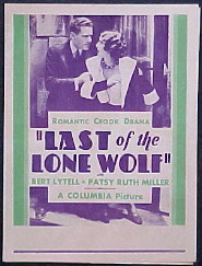 LAST OF THE LONE WOLF @ FilmPosters.com