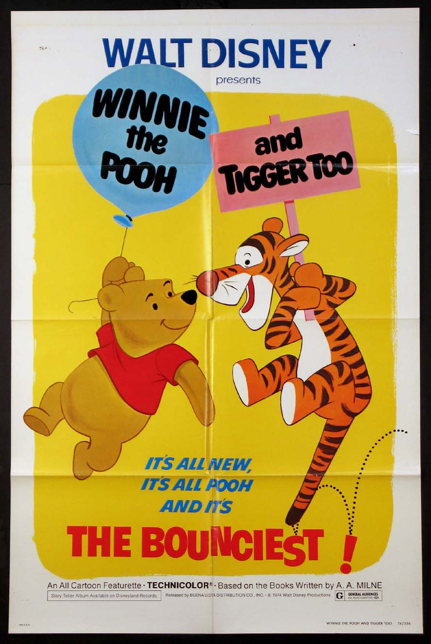 WINNIE THE POOH & TIGGER TOO @ FilmPosters.com