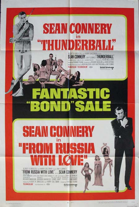 THUNDERBALL / FROM RUSSIA WITH LOVE (James Bond) @ FilmPosters.com