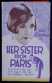 HER SISTER FROM PARIS @ FilmPosters.com