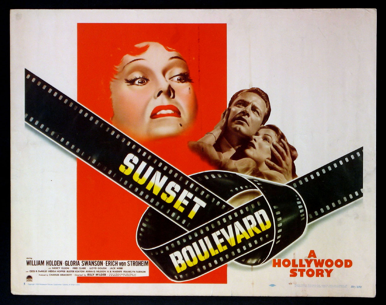 Image result for sunset boulevard poster 1950