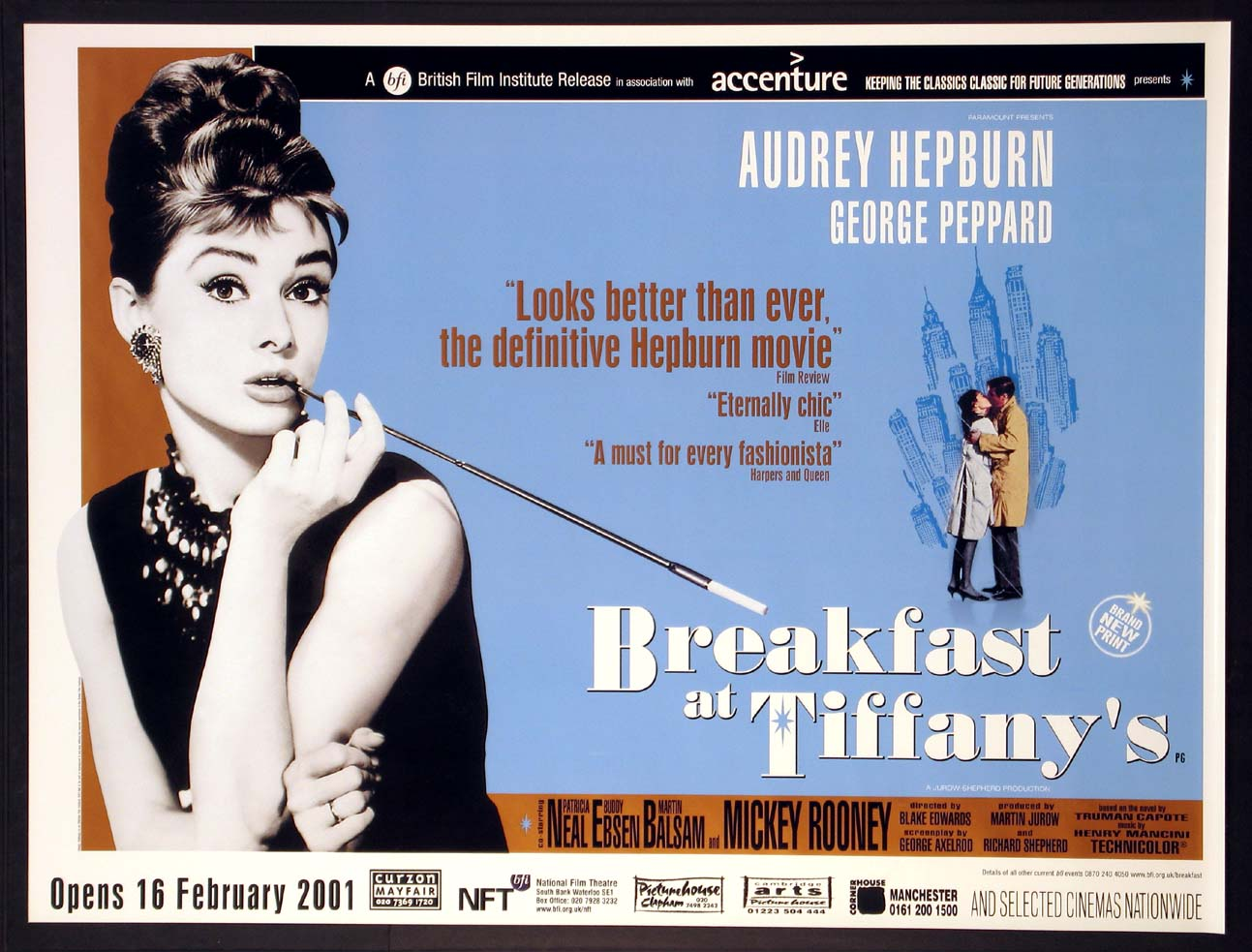 BREAKFAST AT TIFFANY'S (Breakfast at Tiffanys) - Special British Film Institute release @ FilmPosters.com