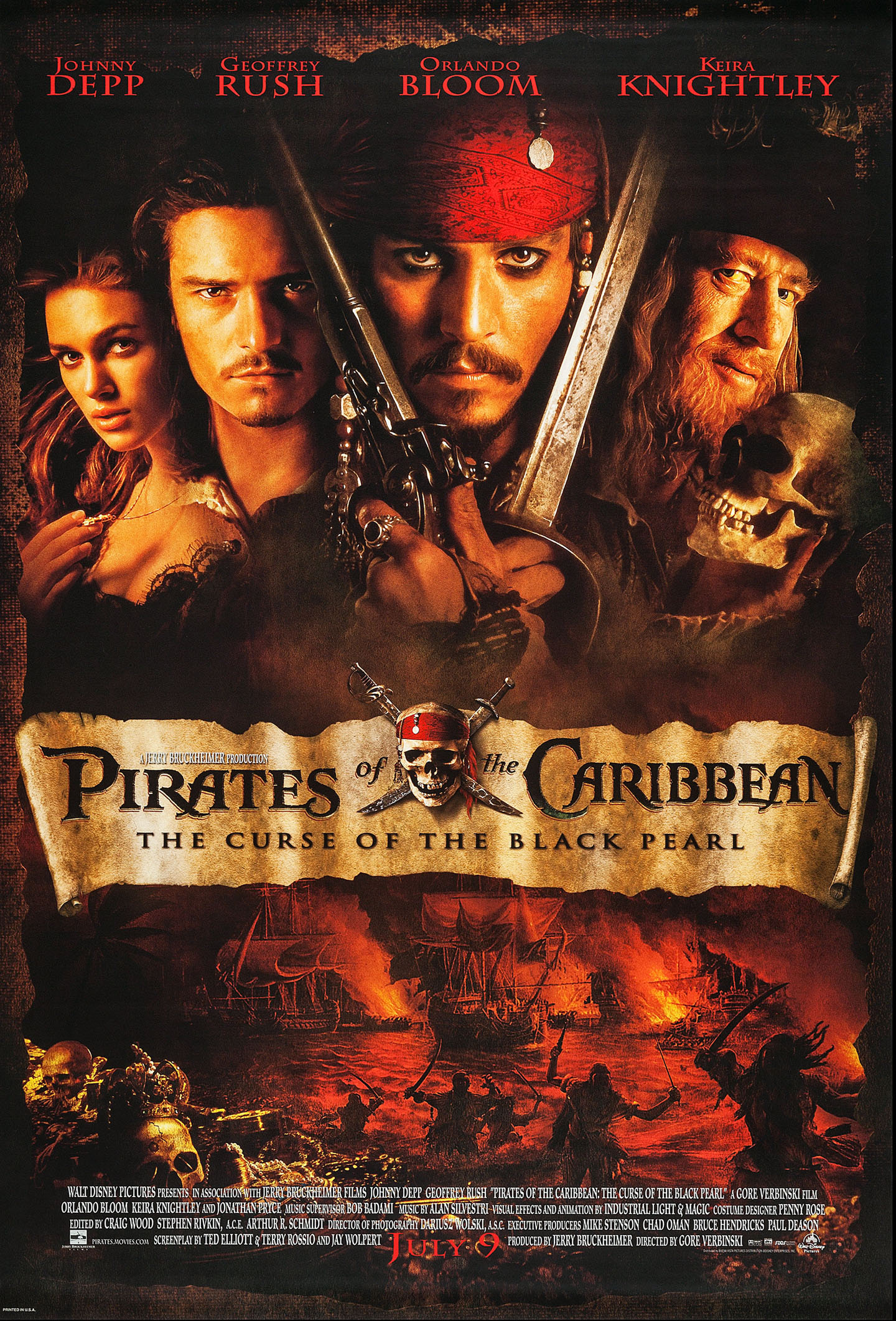 PIRATES OF THE CARIBBEAN: The Curse of the Black Pearl @ FilmPosters.com