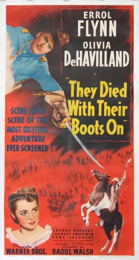THEY DIED WITH THEIR BOOTS ON @ FilmPosters.com