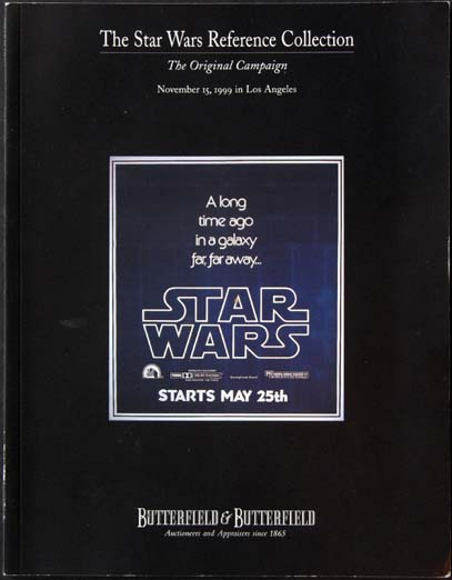 STAR WARS REFERENCE COLLECTION AUCTION CATALOG @ FilmPosters.com
