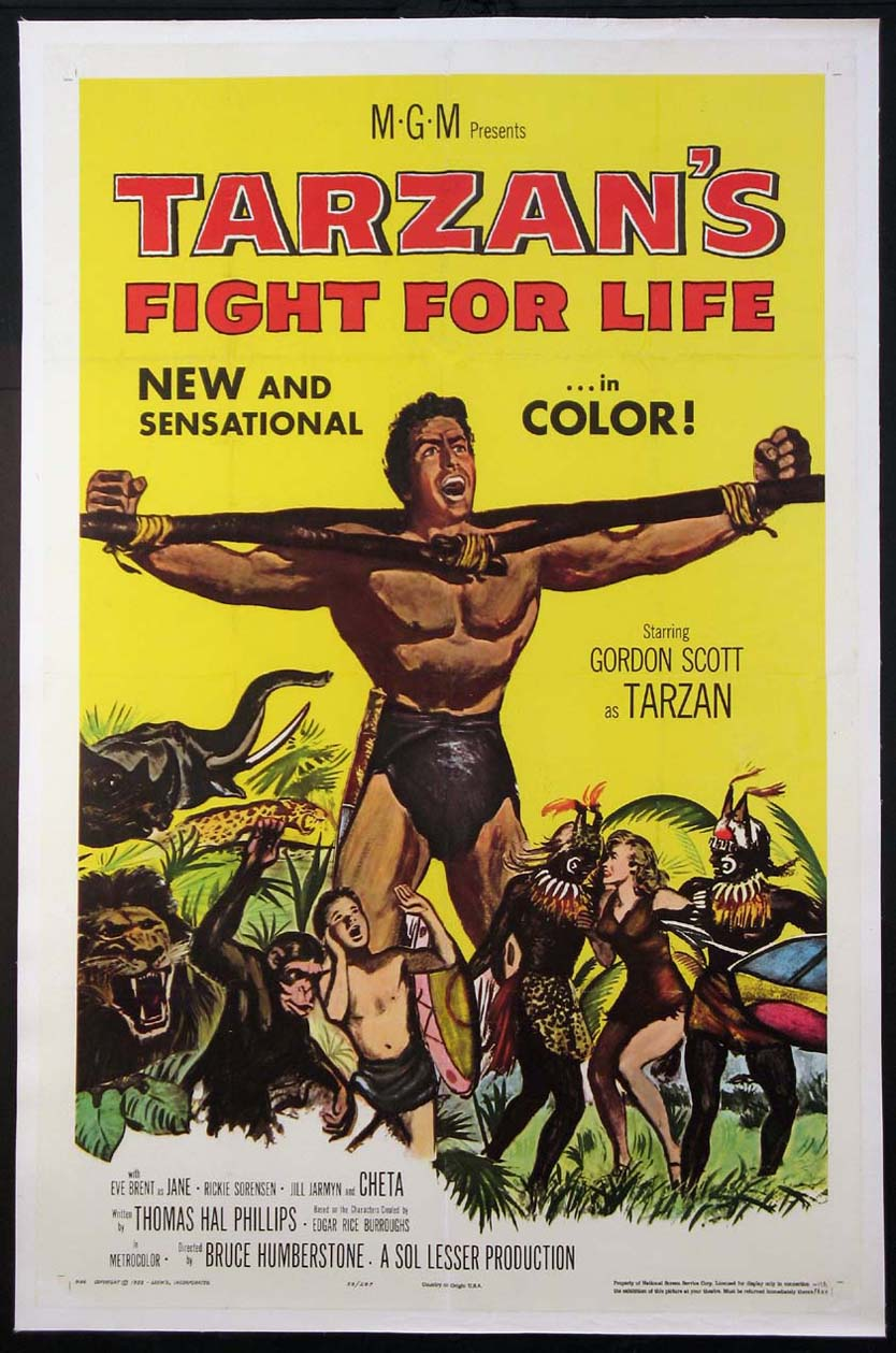 TARZAN'S FIGHT FOR LIFE @ FilmPosters.com