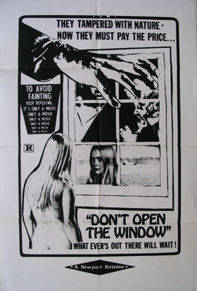 DON'T OPEN THE WINDOW @ FilmPosters.com