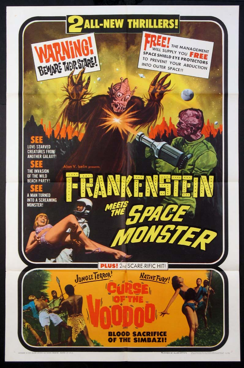 FRANKENSTEIN MEETS THE SPACE MONSTER / CURSE OF THE VOODOO @ FilmPosters.com