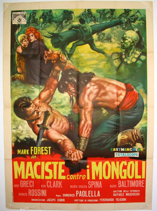 HERCULES AGAINST THE MONGOLS (Maciste contro i Mongoli) @ FilmPosters.com