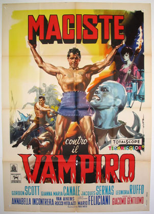 GOLIATH AND THE VAMPIRES (Maciste contro il Vampiro) @ FilmPosters.com