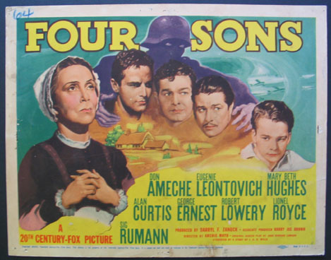 FOUR SONS @ FilmPosters.com