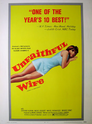 UNFAITHFUL WIFE, THE (Femme Infidele, La) @ FilmPosters.com
