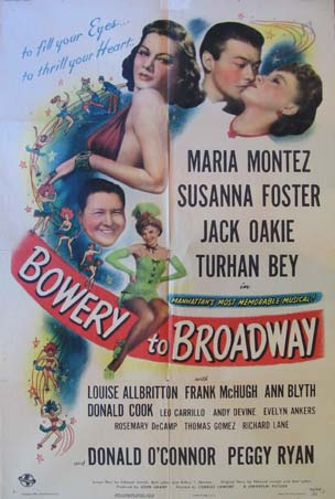 BOWERY TO BROADWAY @ FilmPosters.com