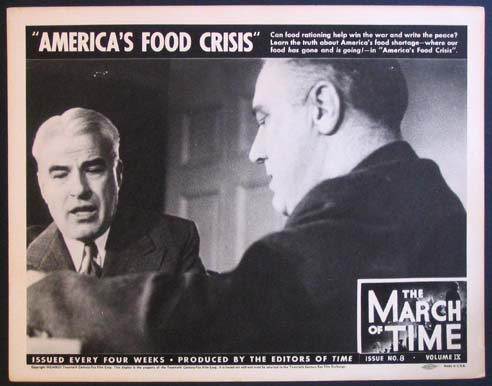 AMERICA'S FOOD CRISIS. MARCH OF TIME: NEWSREEL @ FilmPosters.com